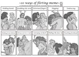 Commission: Flirting Meme for LadyWoods by Fi-Di