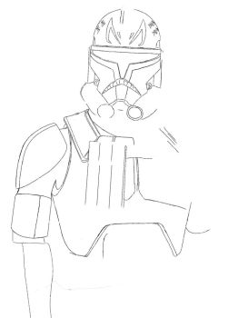 Captain Rex Drawing WIP by shineytrooper