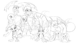 Together We Stand Strong . -Sketch- by Cattensu