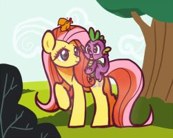 Fluttershy and co. by Fyrebeam
