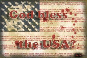 God bless the USA? by Free-Palestine