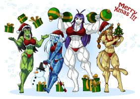 Holiday Cheer 2014 - Festive Muscle Greeting by Sephzero