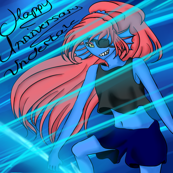 Training With Undyne (Happy Anniversary Undertale) by GimmemyFoodnow