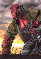 Hellboy colour by lupinemagic