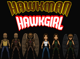 Hawkman and Hawkgirl (New Earth) by Nova20X