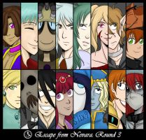 EFN Round 3 Roster by laurbits