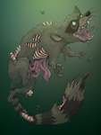 Undead Raccoon by christobet