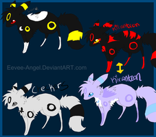 Umbreon Characters by Nixhil