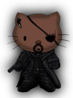 Avengers / Hello kitty deviation- NICK FURY by Crow-Dreamer
