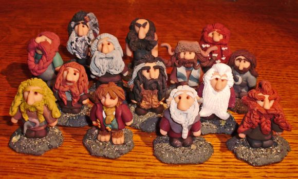All Dwarves and a Hobbit by MLadyLettis