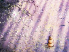 Hope, Peace, Love by Capricuario
