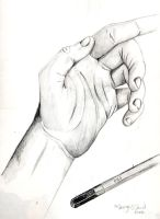 pencil hand by madmanmanga