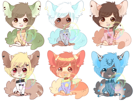 Poofies {Adopts by Rainbowstarrs