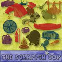 ScrappinCop GoneCampin brushes by debh945