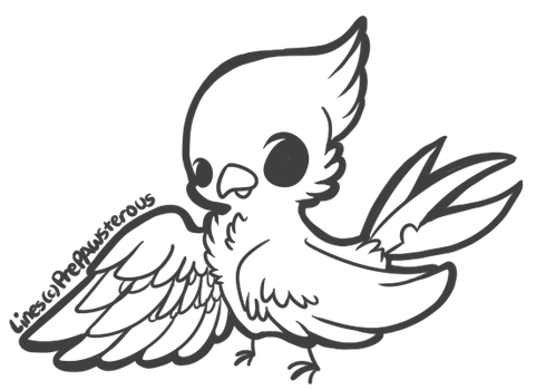 :Free Use Bird Lineart: by PrePAWSterous