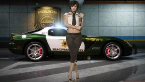 Need For Speed Hot Police Girl by jibp7177