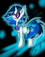 vinyl scratch -colors- by NyaFin