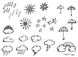 weather symbols by wiledog