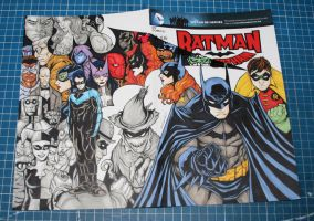 BATMAN friends and foes sketch cover by mdavidct