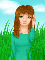 Sarah in the grass by MSzilvi95