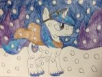 Shining Armor in the snow  by WolfSpiritClan