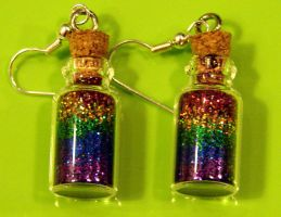 Bottles Of Rainbows Earrings by yobanda
