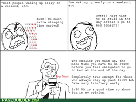 Rage Comic - Waking up (True Story) by SecminourTheThird
