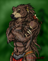 The Gruff Grizzly by TheSilverhyena