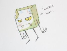 ZOMBIE TOFU by Cannibal-Pie-Chan