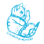 Sweatercats: Luna Kitty sits (sketch) by ColorMyMemory
