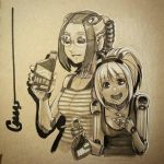 Robot party girls by Omar-Dogan