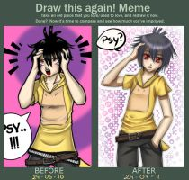 MEME: Psyduck before and after by Yakuun