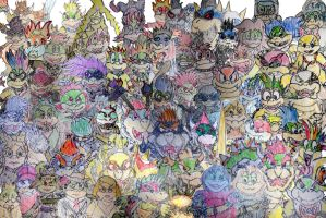 Koopa Family Collage 2 by Vyel