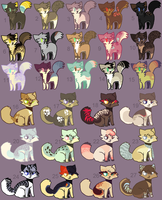 Adoptables 69 CLOSED by hinanamis