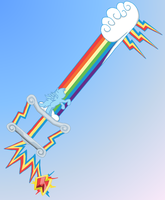 Rainbow Slash (Keyblade) by ReyJJJ