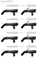SCI FI pump shotgun variations by DESTRAUDO