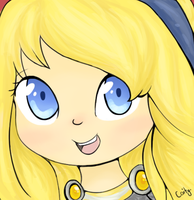 Chibi Lux headshot by A-Psycho-Banana