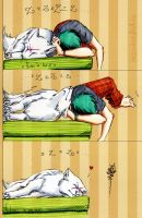 this bed is too small... by Fukari
