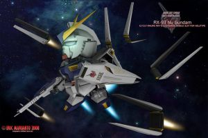 Starry Space - RX-93 Nu Gundam by Marianto
