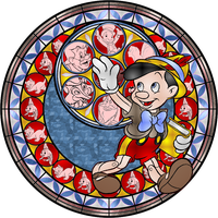 Pinocchio Stained Glass by Maleficent84