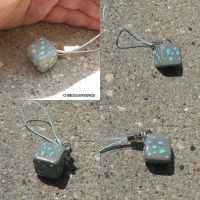 Diamond Ore Minecraft Charm by ChibiSilverWings
