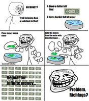 Troll Science : Infinite Money by SharkhboySalvatore