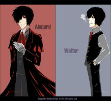 Hellsing: Alucard and Walter by yanacomplicated