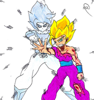 Father-Son Kamehameha (40 Watchers Special) by MaruanKaled