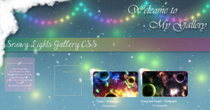 Snowy Lights Gallery CSS by JeffrettaLyn