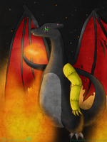 Coal -Art trade with DaydreamDragon371- by ShooterXchan