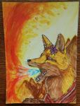 And I see fire.../Aceo request by princessAdelaide