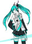 hatsune miku... .. by scary-PANDA