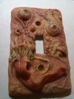 Creepy Light Switch Cover by MorgansMutations