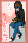 Cute Eyeless Jack fanart! :D by DrBisou